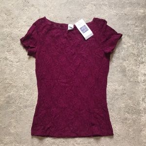Hanky Panky Top Burgundy Small with tag